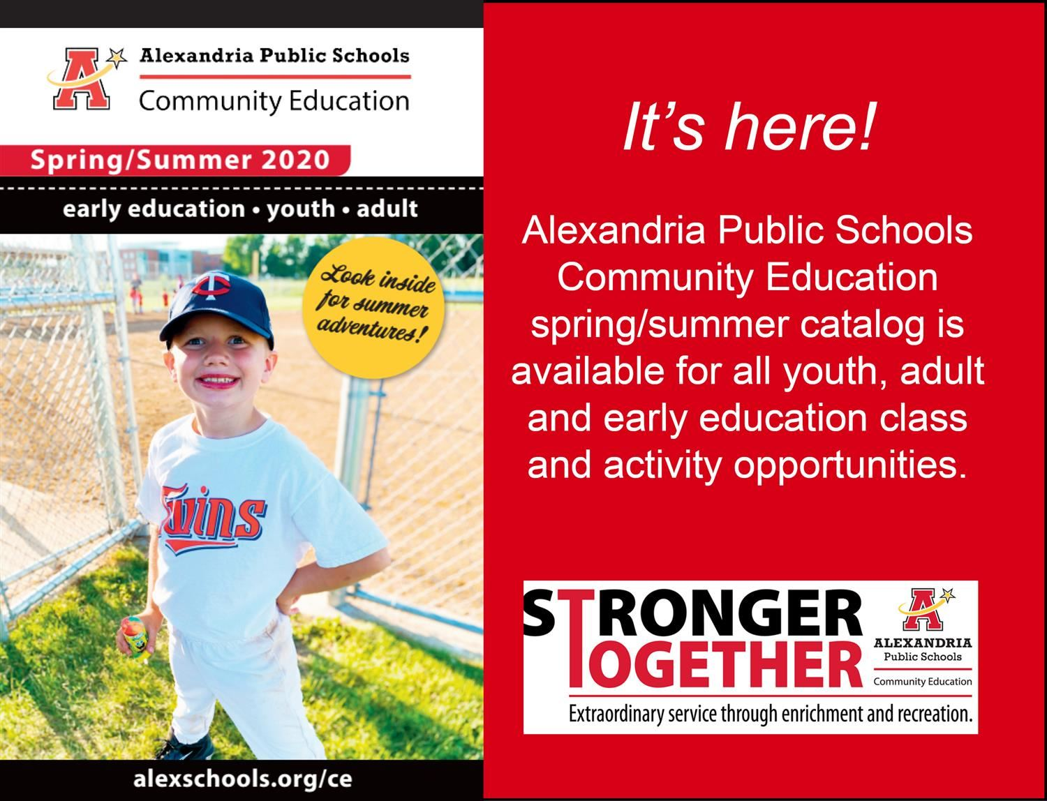Community Education Spring/Summer Catalog